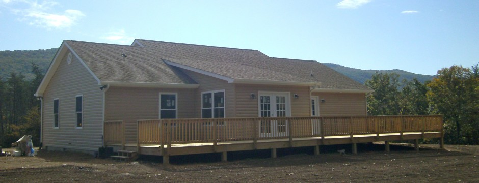 Custom Deck Built in Shenandoah Valley by Valley Builders LLC.