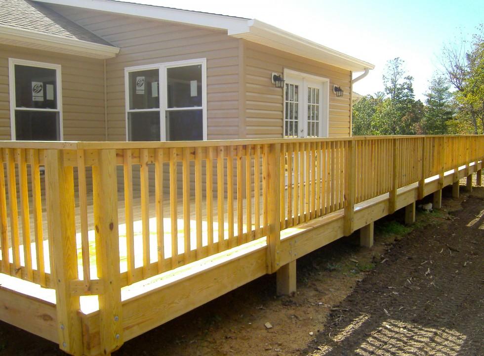 Custom Deck Built in Shenandoah Valley by Valley Builders LLC.