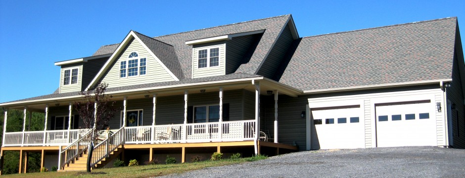 Custom Home Built in Shenandoah Valley by Valley Builders LLC.