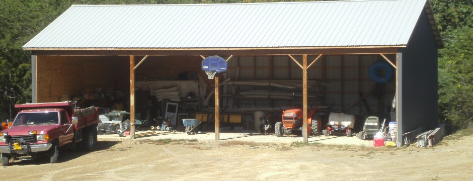 Custom Pole Barn built by Valley Builders LLC