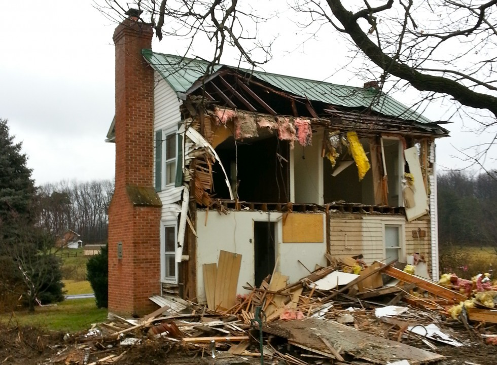 House Demolition on Froghollow Rd in Winchester Virginia