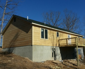 Backside of the Log Siding Project.