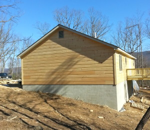 This shows our level of work for Log Siding.