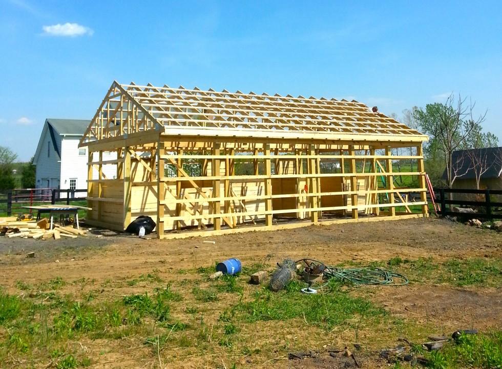 Pole barn plans joy studio design gallery best design for Open pole shed