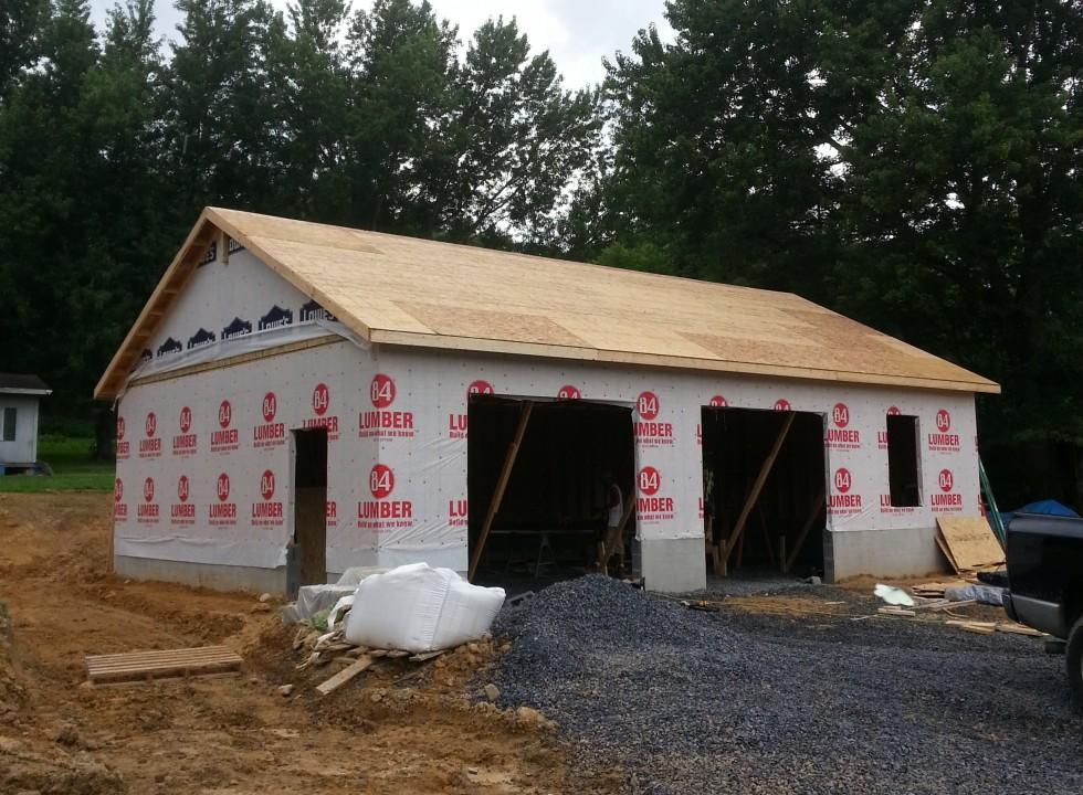 Woodstock Custom Garage by Valley Builders LLC