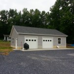 Custom Garage with two bays in Woodstock VA