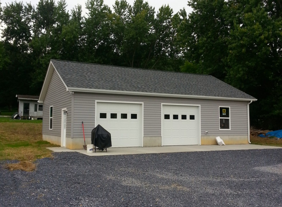 Custom Two Car Garage in Woodstock VA
