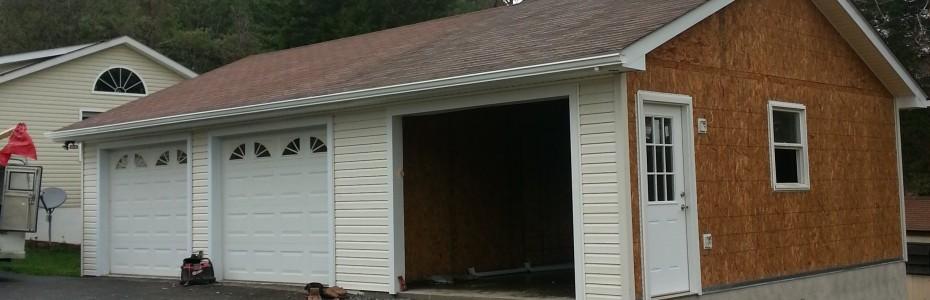 Custom garage addition built by Valley Builders LLC.
