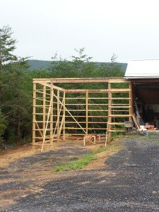 Pole Barn Addition in Fort Valley. 30x24 structure 18 Foot Ceilings