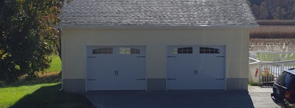 Two car custom garage