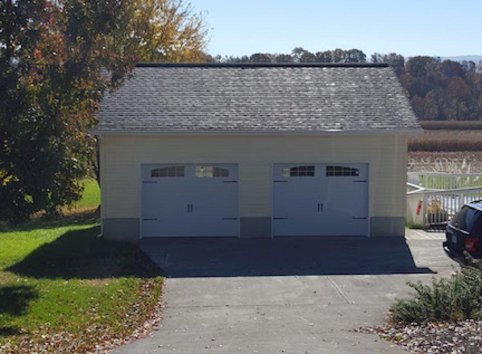 Two car custom garage