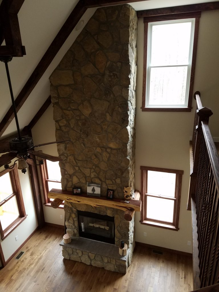 Custom Stone Fireplace Battlefield Road Strasburg Virginia