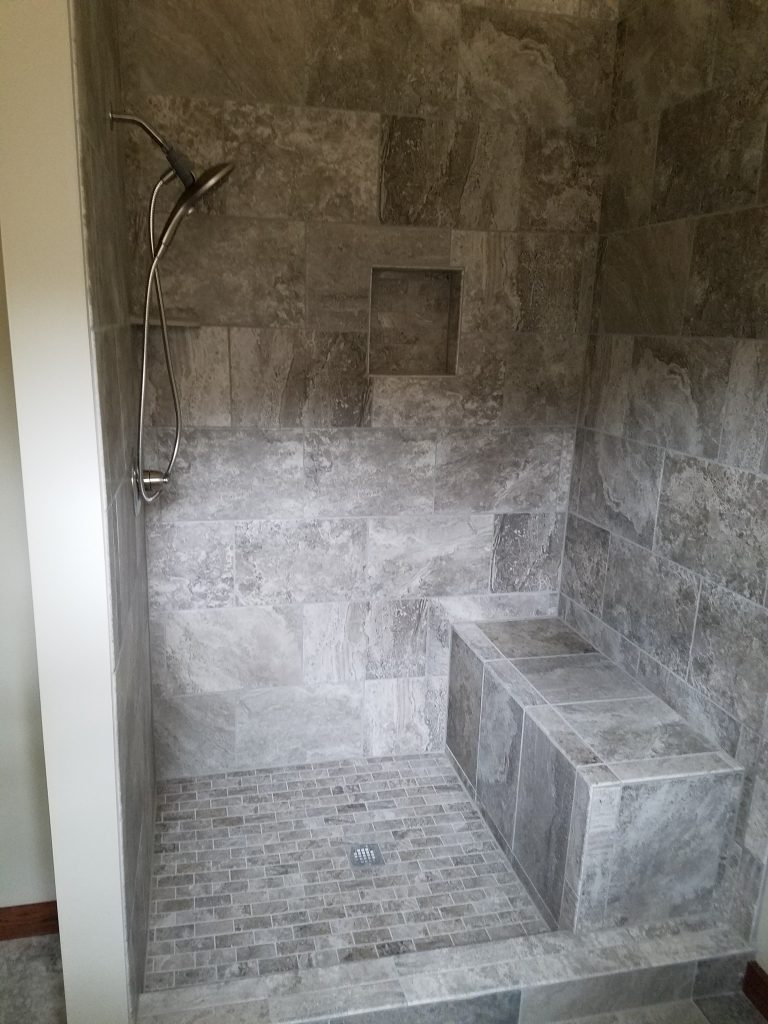 Battlefield Road Strasburg Virginia Custom Tile Shower