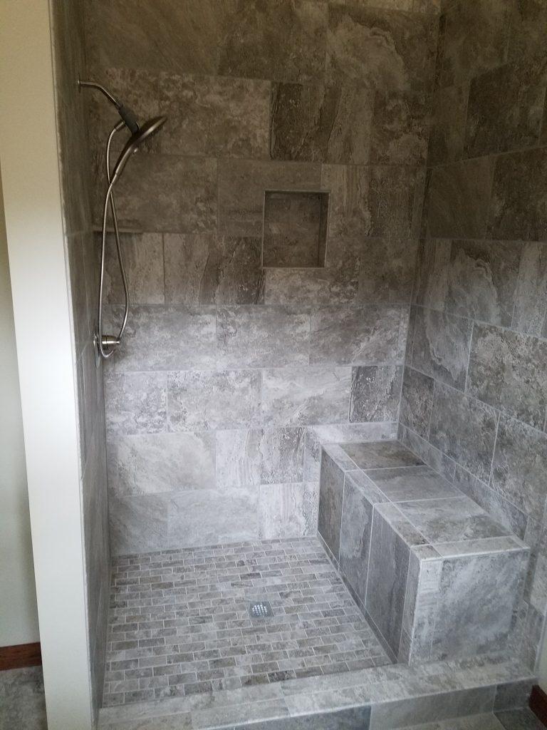 Battlefield Road Strasburg Virginia Custom Tile Shower