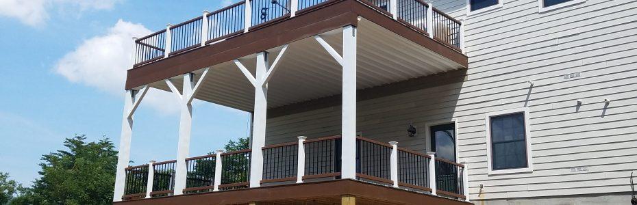 Custom Deck Side View on Stephen Lane in Fort Valley, Virginia